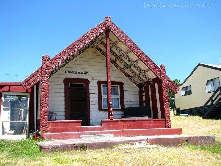 Whakarewarewa, Rotorua, Nowa Zelandia, wioska maoryska