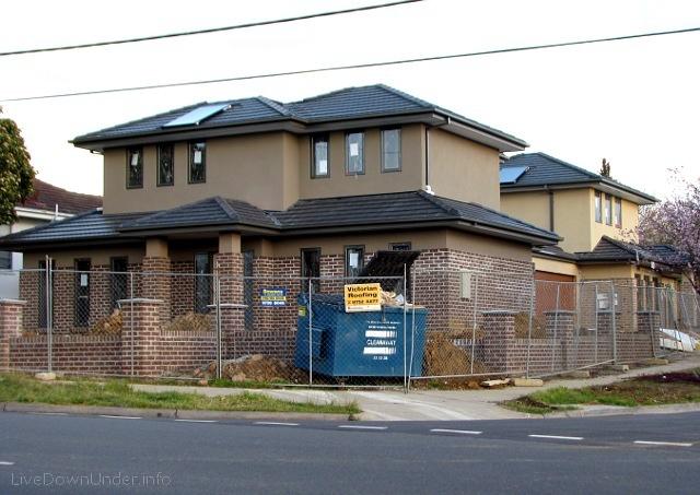 Typowy australijski dom na przedmieściu