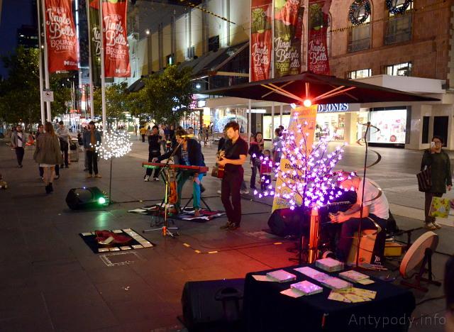 Bourke Street, Melbourne, Święta w Australii