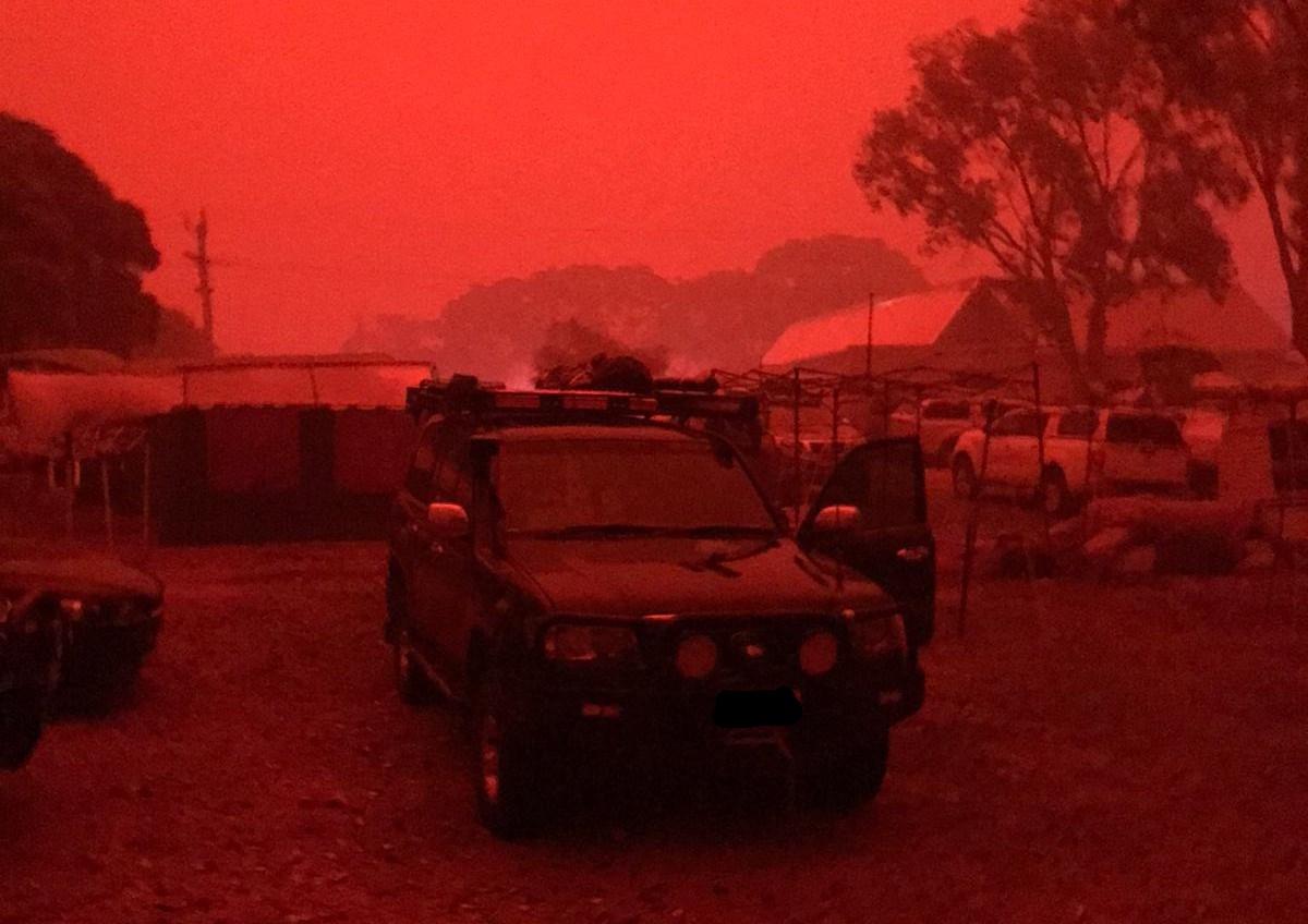 Pali się. Pożary w Australii.