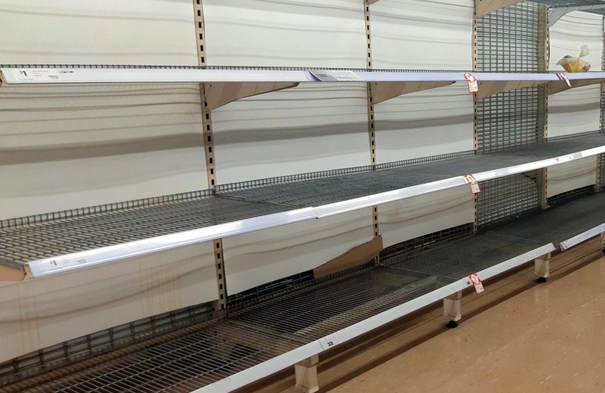 Puste półki w Australii