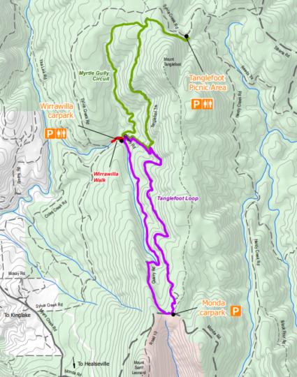 Mapa - Toolangi Forest